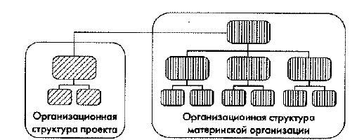 Схема выделенной организационной структуры управления проектом
